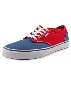 mens blue and red vans