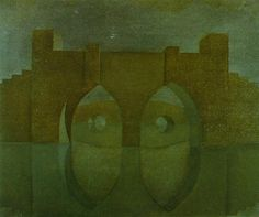 Untitled (Bridge with Reflections; sketch for a dual image picture, unfinished) - Salvador Dali  #dali #paintings #art