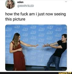 Scarlet Witch and Spiderman. Wanda and Peter. Tom Holland and Elizabeth Olsen. Funny Marvel Memes, Marvel Jokes, Dc Memes, Avengers Memes, Marvel Avengers, Ms Marvel, Disney Marvel, Marvel Heroes, Geeks