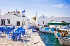 Photo about Greek fishing village in Paros, Naousa, Greece. Image of europe, naousa, islands - 85902085 Best Greek Islands, Greece Islands, Samos, Skiathos, Holland Strand, Greek Island Hopping, Paros Greece, Paros Island, Hidden Places