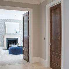 Brown Interior Doors, Brown Doors, Grey Internal Doors, Single Door Design, Modern Wooden Doors, Walnut Doors, Doors And Floors, Wooden Bedroom, Home Deco