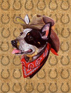 Australian Cattle Dog Dog Country Lucky Horseshoe 2-Sided Garden Flag