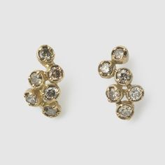 NOGUCHI DIAMOND STUD EARRINGS