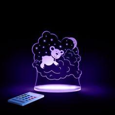 Veilleuse pour enfants RGB technologie LED avec télécommande - Le chaton - NEUF