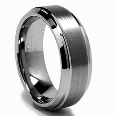 High Polish / Matte Finish Men's Tungsten Ring Wedding Band   $58.99