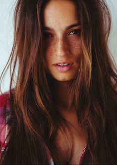 I love her brown hair and the freckles