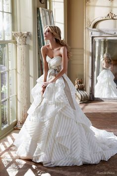 STRIPES by Hayley Paige spring 2013 strapless ball gown sweetheart neckline