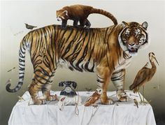 5. Songs of Innocence and Experience A Tyger for Mr Blake Oil on Canvas170 x 220 cm