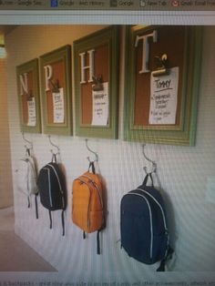 No link.... but i like this idea for my Service Porch.... Organization for kids