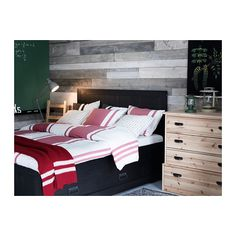 FJELL Bed frame with storage - -, Queen - IKEA