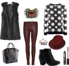 """""""chaleco piel 3"""" by lelykely on Polyvore"""