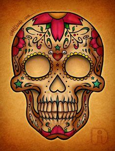 dia de los muertos | Dia De Los Muertos Candy Skull Jimmy Duong Art Design Free Downloads ...