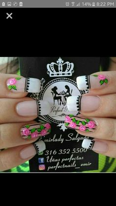 Nails Manicure Nail Designs, Manicure And Pedicure, Nail Art Designs, Nails Design, J Nails, Magic Nails, Flower Nails, Nails Inspiration, Pretty Nails