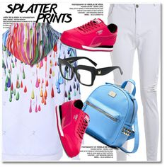 Splatter Prints by paculi on Polyvore featuring Puma and paintiton