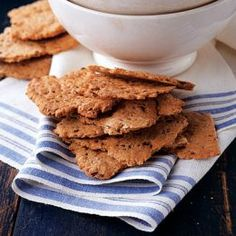 Homemade whole wheat crackers with two variations for garlic parmesan and savory herb crackers at the bottom of the page! Pair these with some of the great fall crock pot soups and you have an amazing lunch or dinner!