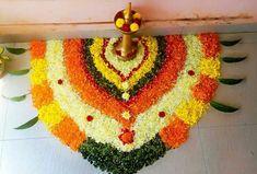 Rangoli Designs Flower, Colorful Rangoli Designs, Rangoli Designs Diwali, Rangoli Designs Images, Diwali Rangoli, Flower Rangoli, Flower Designs, Diwali Decorations At Home, Festival Decorations