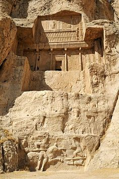 Royal tomb of King Artaxerxes I., Achaemenid burial site Naqsh-e Rostam, Rustam near the archeological site of Persepolis, UNESCO World Heritage Site, Persia, Iran, Asia