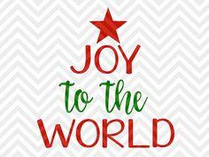 Joy to the World Christmas Tree santa elves decor printable christmas SVG file - Cut File - Cricut projects - cricut ideas - cricut explore - silhouette cameo projects - Silhouette projects by KristinAmandaDesigns