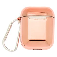 Claire's Metallic Rose Gold Earbud Case Cover - Compatible With Apple Airpods Girls Accessories, Jewelry Accessories, Phone Accessories, Fake Nails For Kids, Fluffy Phone Cases, Airpod Case, Fashion Jewelry, Rose Gold, Kawaii Hairstyles