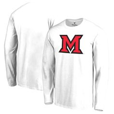 Miami University RedHawks Big & Tall Primary Logo Long Sleeve T-Shirt - White - $29.99