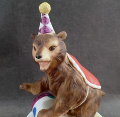 Vintage Music Box - Performing Circus Bear Figurine