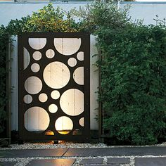 24 great ideas from the western garden book of landscaping - Decorative Metal Panels