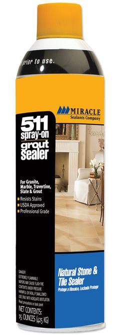 Sealers : 511 Spray-On Grout Sealer