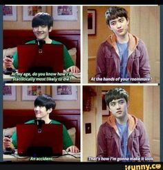 it's always either baek or chanyeol with these murderous kyungsoo memes and i love it