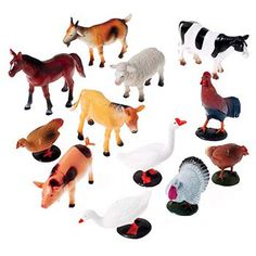 A realistic toy farm animal assortment. Made of plastic. This toy animal figure will make any themed party come alive. Animal figures are 3 in.-5 in., fun for any goody bag or as prizes for a school or church carnival. Product Highlights: Size 3 in....