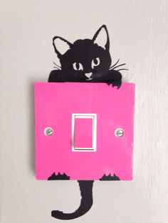 Light switch stickers are the perfect little decorations I got a pink cover and a cat one! They are so cheap and affordable I love them there perfect for bedrooms! Silhouette Pictures, Bedrooms, Decorations, Stickers, Christmas Ornaments, Holiday Decor, Cover, Pink, Beauty