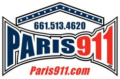 The Paris911 Logo - for silkscreening.  Notice we have you covered...