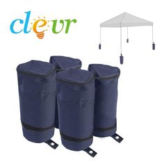 Product Description: Stabilize any Instant Canopy, Pop Up Shelter or Folding Tent structure with a set of durable Clevr Universal Weight Bags. Clevr Universal Weight Bags are a must for all exterior C Tent Camping, Camping Gear, Canopy Weights, Large Gazebo, Pop Up Canopy Tent, Hot Tub Gazebo, Canopy Shelter, Raised Deck, Instant Canopy