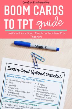 This guide will help you quickly and easily upload your Boom Cards to your Teachers Pay Teachers store.This document outlines how to get your Boom Card sets ready to upload to Teachers Pay Teachers. Find tips and tricks to make the upload fast and easy. #boomcards #teacherspayteachers #teacherseller #creativekindergarten Teacher Cards, Teacher Pay Teachers, Classroom Hacks, What Activities, Kindergarten Classroom, Outlines, Clip Art, Coding, Learning