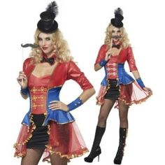 Sexy Womens Ringmaster Lion Tamer Halloween Costume