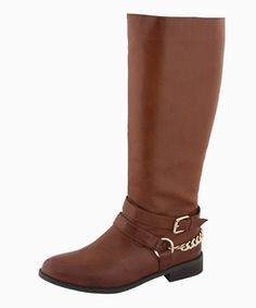Undeniably stylish, these boots boast a buckled strap with a chain around the heel and a handy side zipper. With a sturdy sole and modern design, this pair promises to add a touch of contemporary chicness to any ensemble.