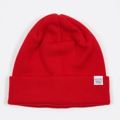 Norse Projects Top Beanie - Oxide Red (Image 1)