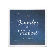Starry Night Wedding Napkin