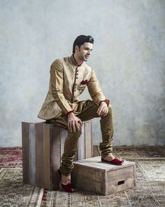 Celebrate in style with the Classic Kurta from Manyavar...
