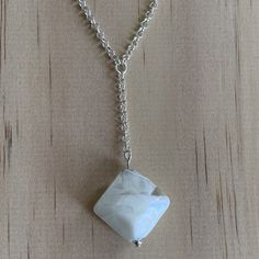 Sterling Silver Belcher Chain & Recycled Glass Bead Necklace