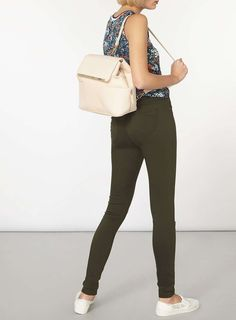 Womens Dark Khaki 'Eden' Ultra Soft Jeggings- Green