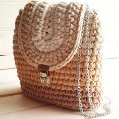 Рюкзак в наличии ☕ Вопросы в директ 👆#моимируками #текстильнаяпряжа #скоролето #вяжудляВас #рюкзаки