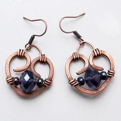 """Projects on Craftsy: Earrings """"Hearts"""" from Anabel27"""