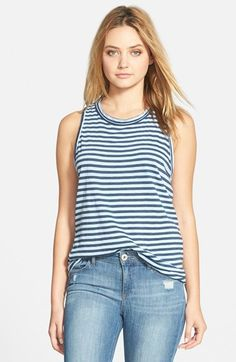 Stateside Slub Stripe Tank available at #Nordstrom