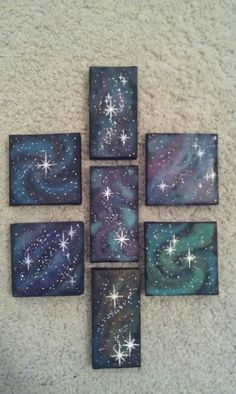 Mini galaxy paintings