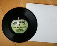 Save the dates on vinyl, super cute.