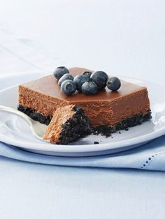 PHILADELPHIA Double-Chocolate Cheesecake — Double duty is what chocolate does in this rich cheesecake. Our version sports everyone's favorite ingredient both in the dense filling and in the delicately delicious crust.