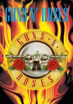 52116 Guns N Roses - Circle Flames Fabric Poster – Preegle.com