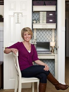 This coat closet turned office is fabulous!! via @Tonya @ Love of Family & Home
