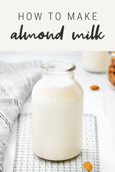 Homemade almond milk is so easy – just soak, blend and strain! In this post I'm breaking down how to make your own almond milk and sharing recipes for how to use it!