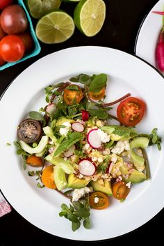This straight-from-the-garden vegetable salad is the essence of summer on a plate. It's very easy to make, but you'll need to buy sweet young corn, tender enough to eat raw, as well as perfectly ripe avocados and the freshest cucumbers. (Photo: Karsten Moran for The New York Times)